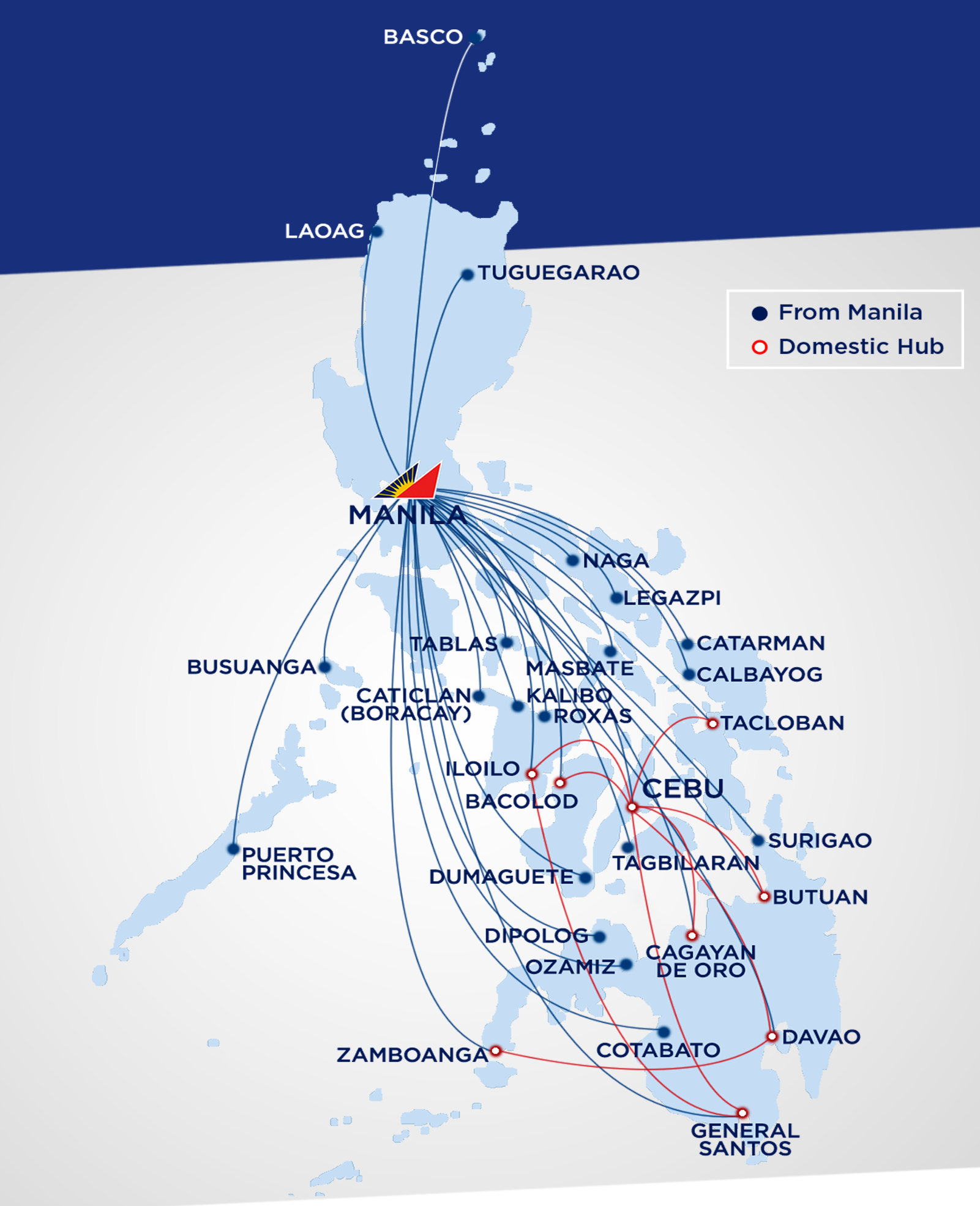 Philippine airlines domestic routes